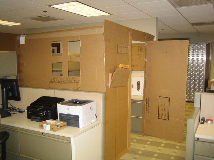 Cardboard Office Image Two