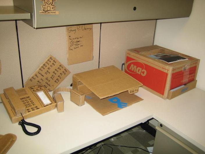 Cardboard Office Image Six