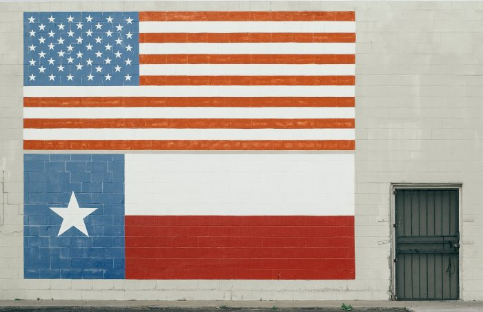 Texas & American Flag Image One