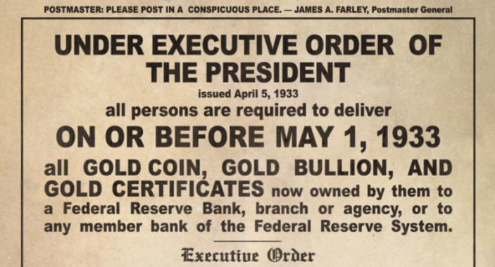 Executive Order 6102 Image Two