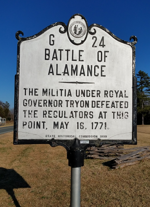 Battle of Alamance Marker Image One
