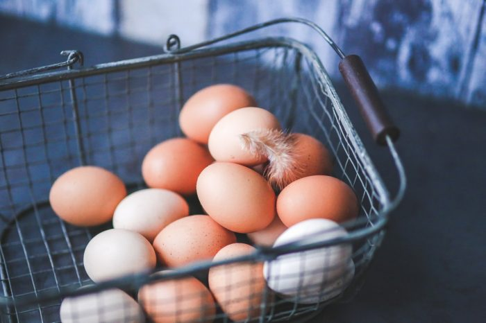 Eggs In The Metal Basket Image One