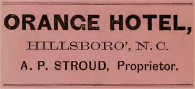 Orange Hotel Ad 1867 Image One