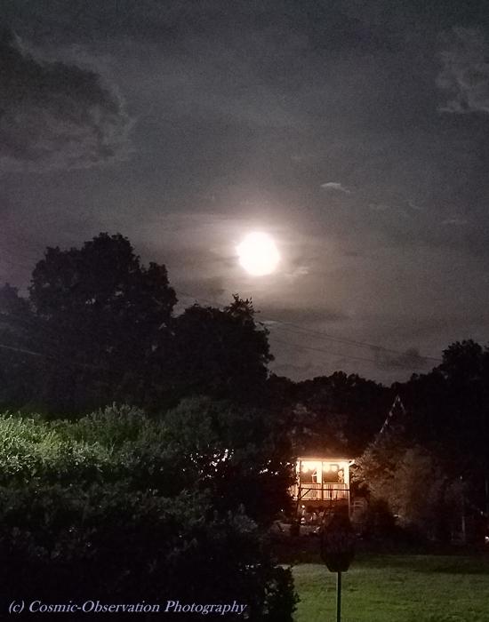 Waning Gibbous At Night Image Five