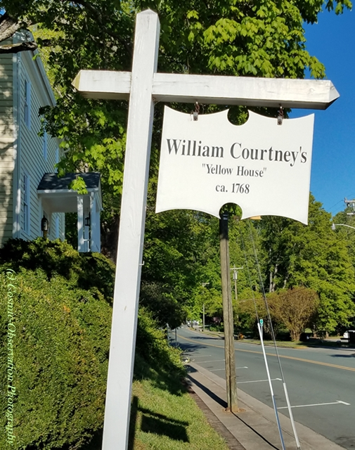 William Courtney Yellow House Sign Image Three