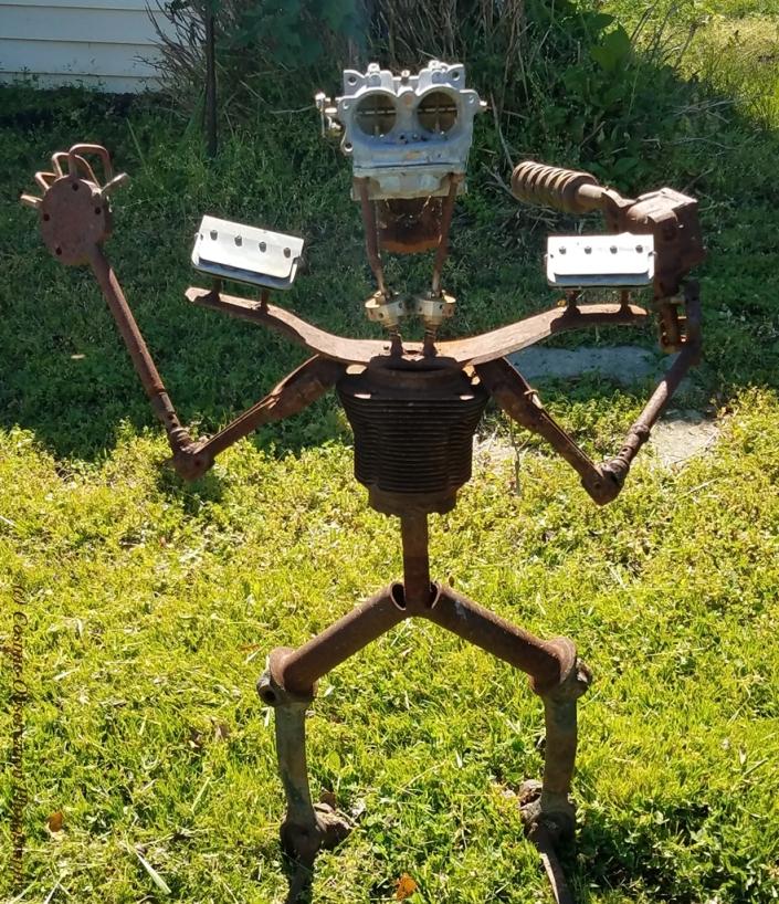 Robot Yard Art Image