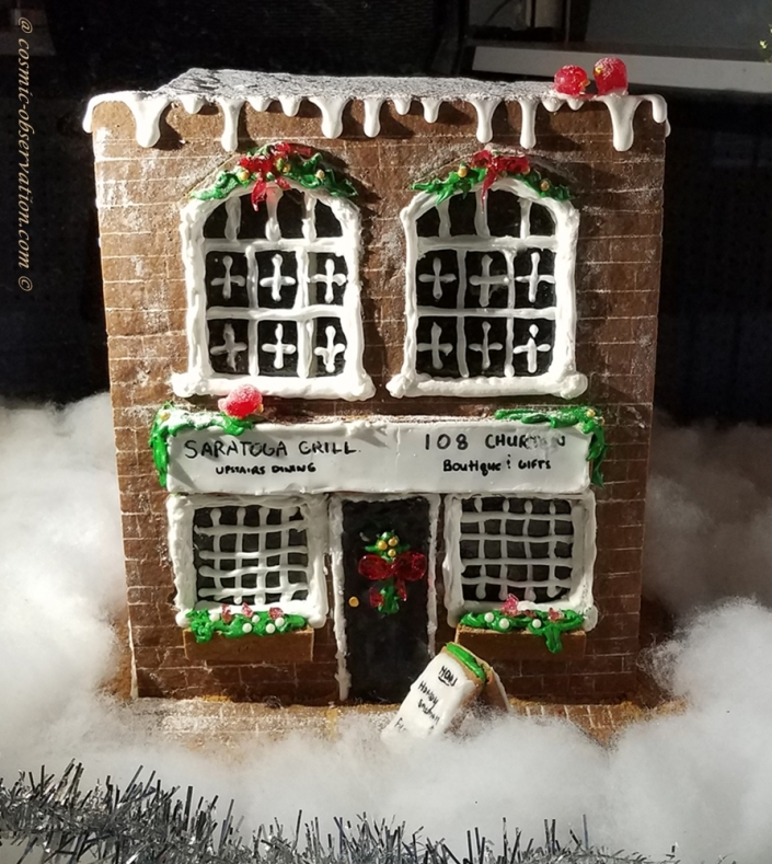 Saratoga Grill Gingerbread House Image One