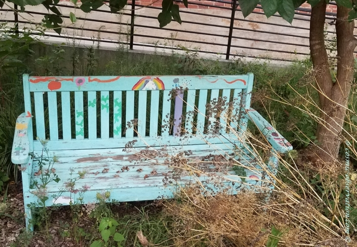 Painted Bench Image